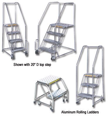 Ballymore/Garlin Enterprises, Spring Loaded, 24In. Wide Treads, Stainless Steel, Hss630*, Steps: 6, Base W X L: 30 X 50