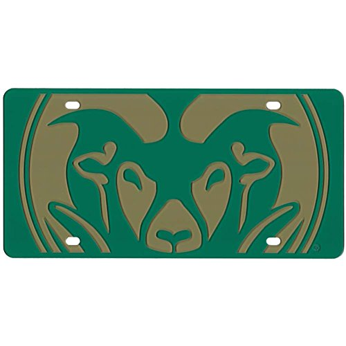 Colorado State Rams Full Color Mega Inlay License Plate by Stockdale