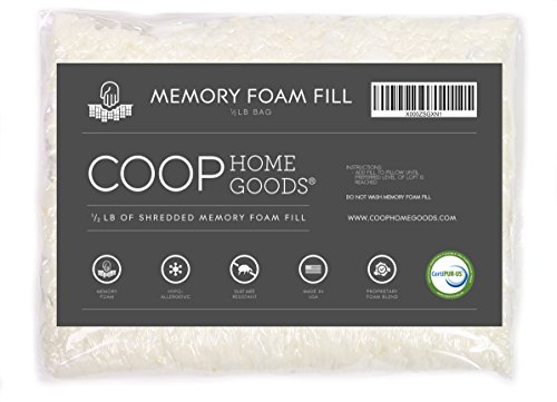 coop-home-goods-adjustable-shredded-memory-foam-pillow-refill-foam-1-2-lb