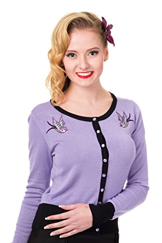 Banned-LAVENDER-SWALLOWS-Womens-Long-Sleeve-Embroidered-Cardigan-PLUS-SIZES
