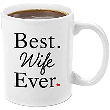 Amazon.com: gifts wife 11oz coffee mug - To my wonderful wife ...