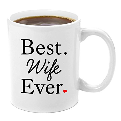 Best Wife Ever | Premium 11oz Coffee Mug Set - Wife Gifts, Birthday Gift Ideas, Christmas, Best Wife, Wifely Gifts, Romantic, Wife 50th Birthday Gift Ideas, xmas Gifts, From Husband, Anniversary (50th Birthday Gifts For Wife)