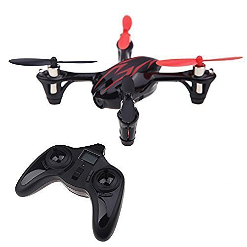 HUBSAN X4 H107C 4 Channel 2.4GHz 6 Axis Gyro RC Quadcopter with 480P Camera and Protection Cover Mode 2 RTF (red black) For Sale