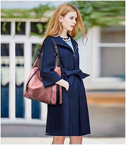 KLJDC Sacs portés épaule Cabas Sacs à Main en Cuir pour Femmes Sacs à Main pour Femmes avec Gland Grand Sac fourre-Tout pour Femmes