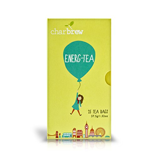 Charbrew Energy Tea 4 x 25 Tea Bags (100 Days Supply) NATURALLY CAFFEINE FREE