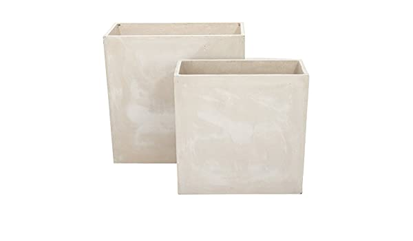 Modernistisk Amazon.com : DecMode 24 and 28 in. Fiberclay Planters - Set of 2 ZA-07