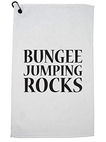 Hollywood Thread Simple Bungee Jumping Rocks Graphic Golf Towel with Carabiner Clip by Hollywood Thread