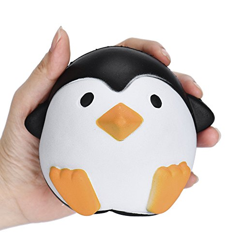HHei_K Adults Children Stress Relief Toy Lovely Penguins Squishy Slow Rising Cream Scented Squeeze Toys