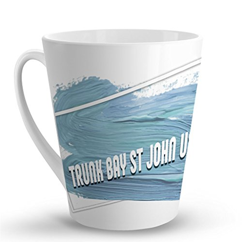(Makoroni - TRUNK BAY ST JOHN USVI - 12 Oz. Unique LATTE MUG, Coffee Cup)