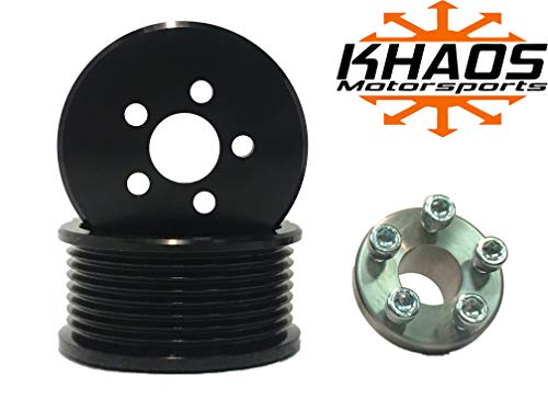Supercharger Blower Pulley Kit Compatible with Ford F150 SVT Lightning/Harley Davidson/Mustang Cobra 2.7