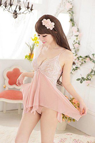 Kang & Fashion ropa interior la nuevos conjuntos de lencería sexy kawaii Cute Sexy gasa ropa interior pijama lencería Sexy, beige, talla única: Amazon.es: ...