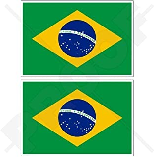 Brazil Country Flag Reflective Decal Bumper Sticker