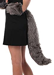 elope Oversized Wolf Costume Tail for Kids and Adults