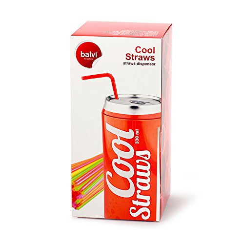 Compra Balmes Vives M235374 - Dispensador pajitas Cool Straw Rojo en Amazon.es
