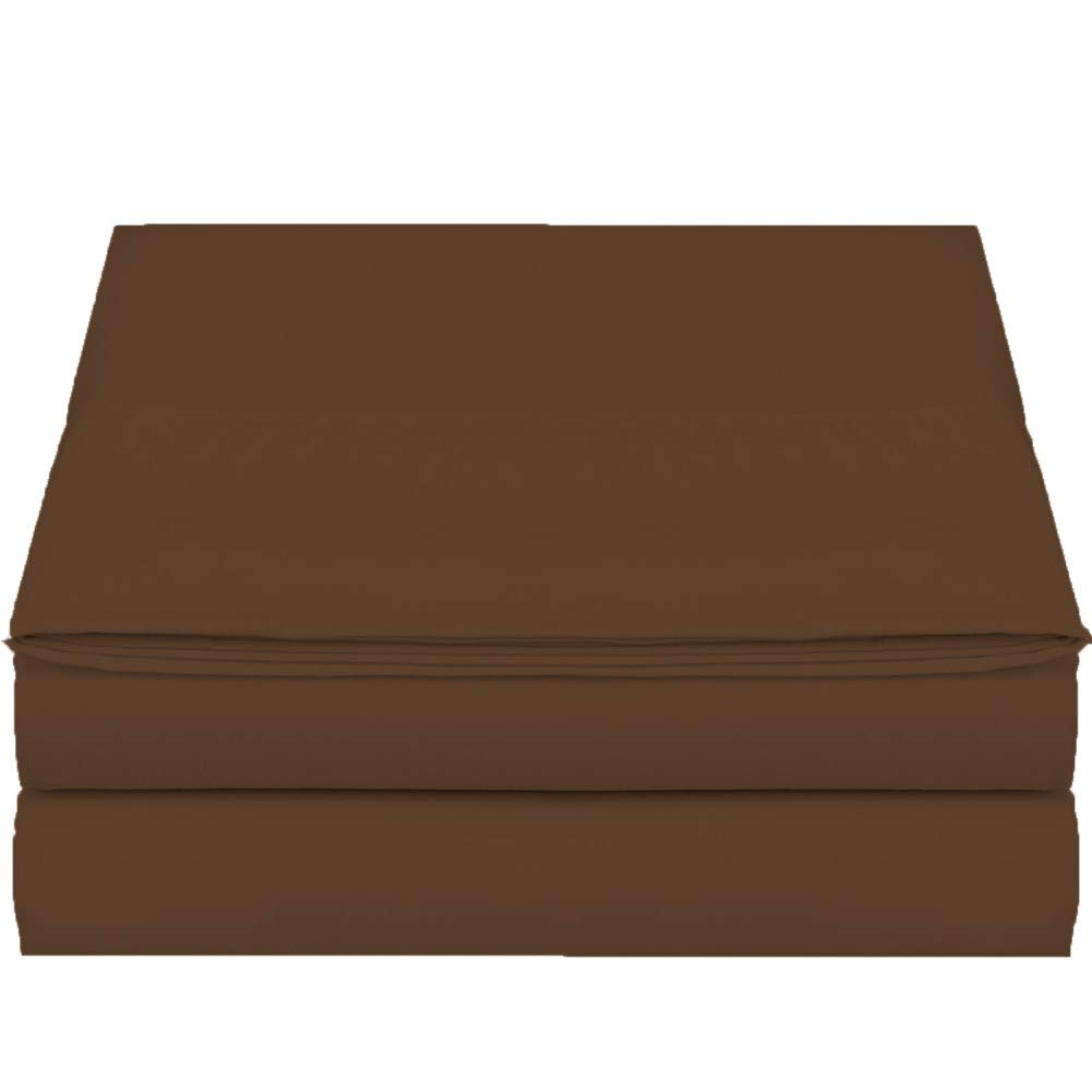 Full Size Flat Sheet Single Brown 300 Thread Count 100/% Egyptian Cotton Quality Hotel Collection Ultra Soft Flat Sheet Sold Separately