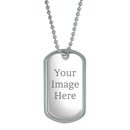 Graphics and More Self-eez(TM) Custom Personalized Dog Tag with Chain