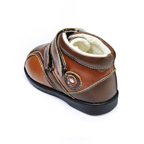 HLT Toddler/Little Kid Boy Warm Comfy Fur Lining Light Brown Low Boot [US 10 / EU 26]