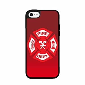 Firefighter Badge- TPU RUBBER SILICONE Phone Case Back Cover iPhone 5c