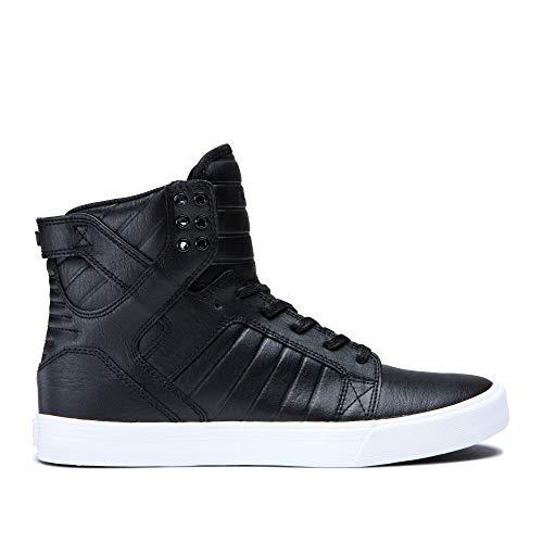 Supra Skytop Skate Shoe, Black/White, 14 Regular US - Muska Skytop Skate Shoes