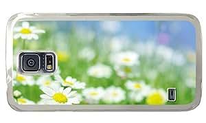 Cheap pretty Samsung S5 case Chamomile flowers macro PC Transparent for Samsung S5,Samsung Galaxy S5,Samsung i9600