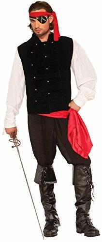 Forum Novelties Men's Standard Pirate Captain Vest Black Standard]()