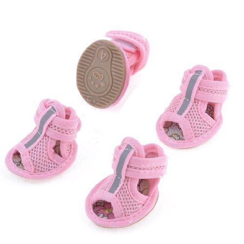 2Pairs of Rubberen Zool Pink Mesh Sandals Yorkie Chihuaha Schoenen Maat M V98vJLmAJw