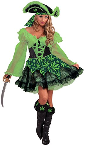 Forum Novelties Women's High Seas Cannabis Pirate Maiden Costume