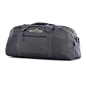 Olympia Luggage 30 Inch Sports Duffel Bag, Gray, One Size