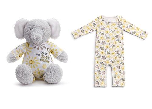 Demdaco Baby Pajama Gift Set, You Are My Sunshine Elephant