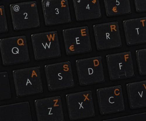 Geeignet f/ür Jede Tastatur Qwerty Keys Italienisch transparente Tastaturaufkleber mit Orange Buchstaben