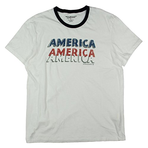 Denim & Supply Ralph Lauren Mens Printed Slogan T-Shirt White - Jeans Ralph Mens Lauren White
