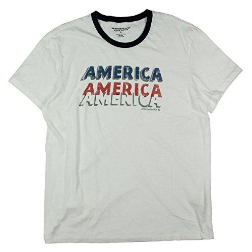 Denim & Supply Ralph Lauren Mens Printed Slogan T-Shirt White - Mens White Jeans Ralph Lauren