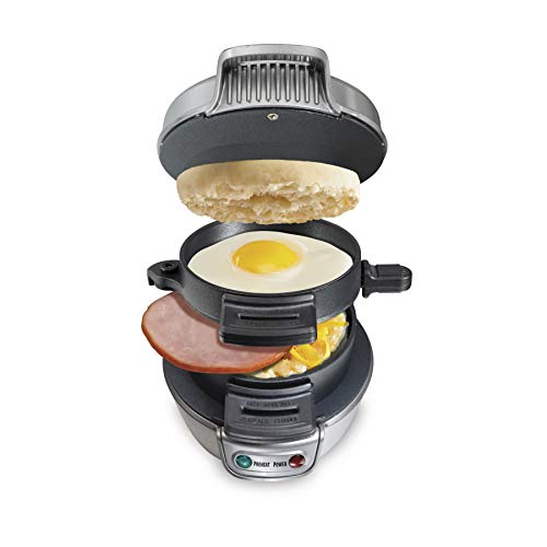 Hamilton Beach Breakfast Sandwich Maker, Silver (25475A) (Homemade Ideas Dad For Christmas)