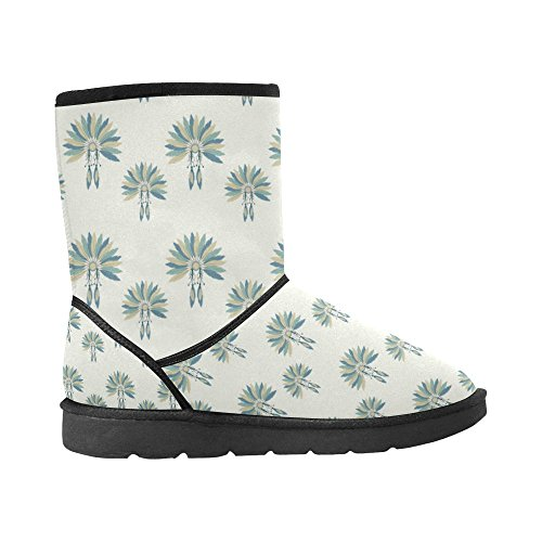 InterestPrint Ethnic colorful Snow Size Color2 5 Womens 5 Boots 12 Circles Ladies Print Doodle Floral Tribal Classic Pattern rqxYrn0