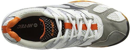 Hi-Tec Ad Pro Elite - Zapatillas Deportivas para Interior Hombre Blanco (White/black/orange 011)