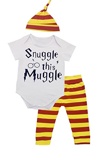 [3Pcs/Set Baby Boy Girl Infant Snuggle this Muggle Rompers (12-18 Months)] (White Party Outfit Ideas)