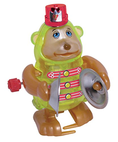 Monkey Wind Up Toy - Monkey Claps Cymbals And Walks In Circles - Unique Windup Features - 3 Inches Tall -