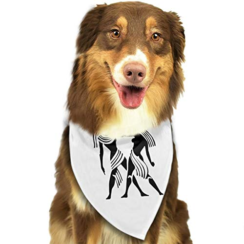 (Pet Scarf Dog Bandana Bibs Triangle Head Scarfs Gemini Drawing Accessories for Cats Baby)
