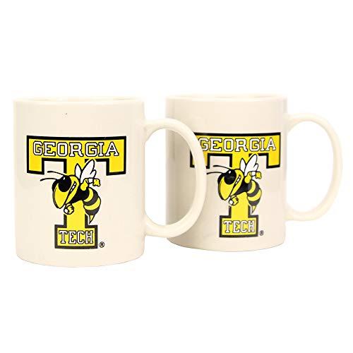 - Boelter NCAA Collegiate 12oz Team Logo Coffee Mug 2-Pack (Georgia tech Yellow Jackets)