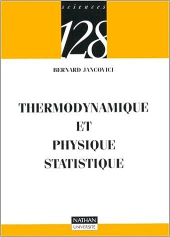 Livres gratuits Thermodynamique et physique statistique pdf epub
