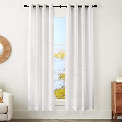 Amazon Basics Sheer Window Panel Pair
