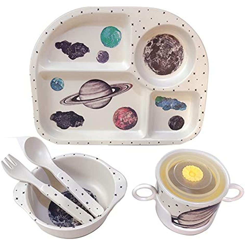 SPOON BABY KIDS SUCTION CUP TRAINING FEEDING BOWL FORK TABLEWARE SET DURABLE
