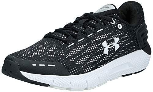 UNDER ARMOUR Women's Charged Rogue Running Shoe, Black (002)/White, 8.5