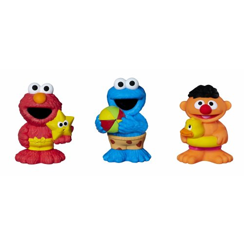 Sesame Street Bath Squirters, Bath Toys featuring Elmo, Cookie Monster and Ernie, Ages 12 Months - 4 Years Assortment (Amazon -