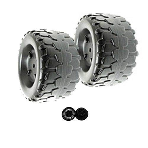 Power Wheels B7659-2459 Jeep Wrangler Set of 2 Wheels (2x) Includes Retainers ()