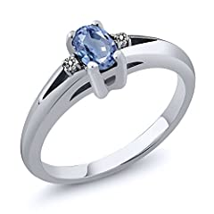 A Timeless Treasure and Style Classic, our rings are always fit for any occasion. Beautifully crafted and designed our Sapphire and Diamond ring is sure to win your way into her heart. This ring crafted in 925 Sterling Silver that adds a poli...