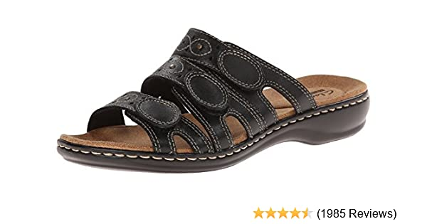 e31842385f Amazon.com | Clarks Women's Leisa Cacti Slide Sandal | Shoes