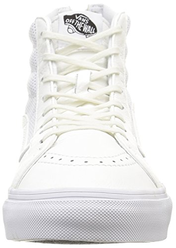 true Perf Vans Zip Slim hi Bianco Sk8 White Sneakers perf Unisex Leather U Leather AqUwU7XxS