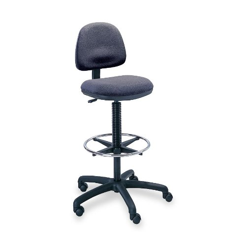 Safco® Precision Extended Height Swivel Stool with Adjustable Footring STOOL,DRFT,PNEU,FT.RG,DGY (Pack of2) ()