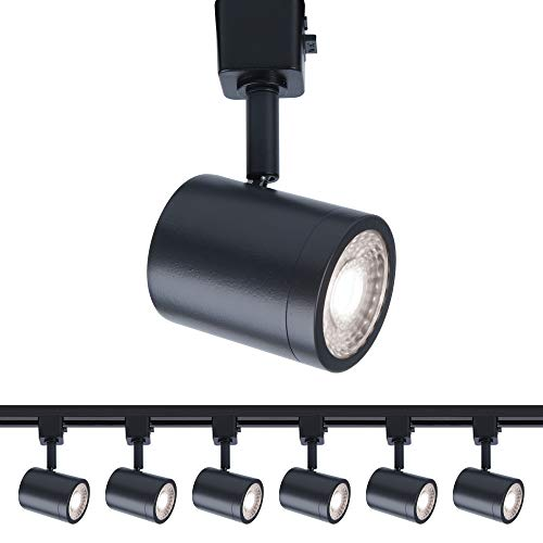 WAC Lighting H-8010-30-BK-6 Charge Head LED Track Fixture, Pack of 6, Black, 6 Count